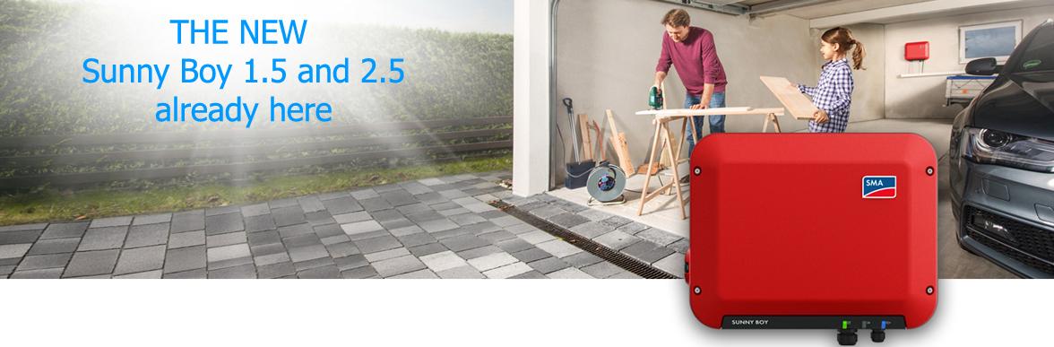 The new SMA Sunny Boy 1.5 and SMA Sunny Boy 2.5 solar inverters